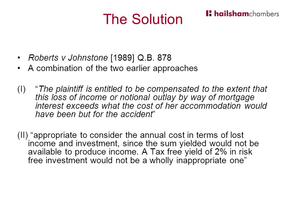 The Solution Roberts v Johnstone [1989] Q.B. 878